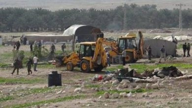 Photo of Israeli Occupation confiscated 5 tents and animal shelters from the Bedouin herder community of Wadi al-Ahmar, in the northern Jordan Valley