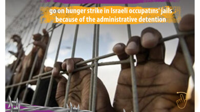 Photo of 6 Palestinian detainees go on hunger strike